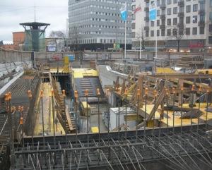 Odenplan, bygget för Citybanan, västerut.