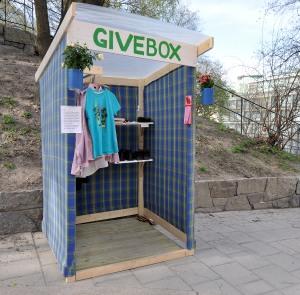 Ny Givebox - inte så mycket grejer än. 8 maj.