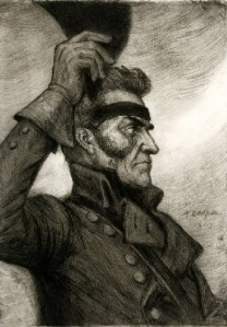 Georg_Carl_von_Döbeln,_teckning_av_Albert_Edelfelt_från_1903